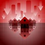 De crisis van de hypotheek Stock Afbeelding