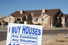 De Crisis van de hypotheek, vermijdt Verhindering Stock Fotografie