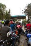 De crisis van het benzinetekort in Katmandu, Nepal Royalty-vrije Stock Foto's