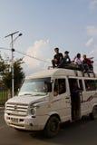 De crisis van het benzinetekort in Katmandu, Nepal Royalty-vrije Stock Afbeeldingen