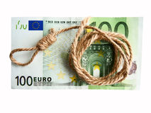 De crisis van het geld Royalty-vrije Stock Afbeelding