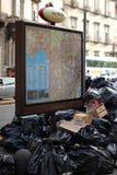 De crisis van het vuilnis in Napels Stock Foto