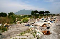 De crisis van het vuilnis in Napoli Italië Stock Afbeeldingen