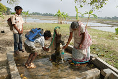 De crisis van het water in India Royalty-vrije Stock Fotografie