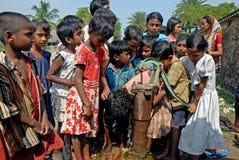 De crisis van het water in sundarban-India Stock Foto's