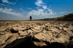 De crisismilieu van het droogteland Stock Afbeeldingen