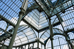 de cristal palacio Madrid Obrazy Stock