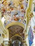 De Crocifisso-kerk in Di Santa Caterina van Casa Santuario. Siena, Italië Stock Afbeelding