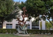 ` De croissance de ` par Andrew Rogers, Hall Park, Frisco, le Texas Images stock