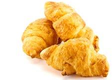 De croissant is op witte achtergrond Royalty-vrije Stock Foto