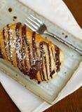 De croissant van de chocolade Stock Foto