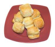 De croissant van de kaas Stock Afbeeldingen
