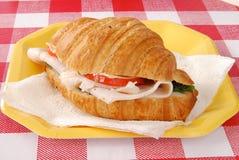 De croissantsandwich van Turkije royalty-vrije stock afbeelding