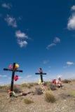 De croix route de côté Photo libre de droits