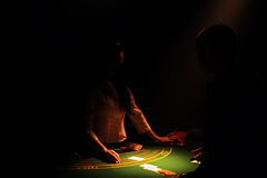De croupier van het blackjack royalty-vrije stock fotografie