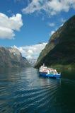 De cruise van de fjord Stock Foto