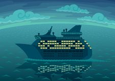 De Cruise van de nacht vector illustratie