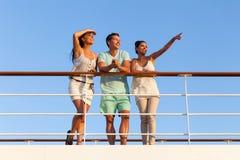De cruise van de vriendenzonsondergang Royalty-vrije Stock Fotografie