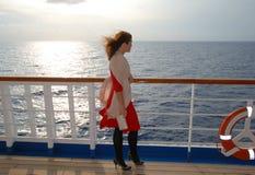 De Cruise van de zonsondergang Stock Afbeeldingen