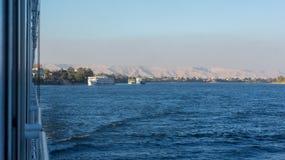 De cruise van Egypte Nijl, aardig Stock Foto