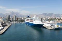 De cruisehaven van Palermo Stock Foto's