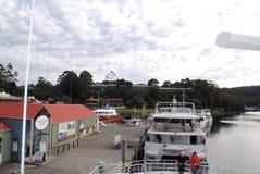 De cruises Strahan, Tasmanige van de Gordonrivier Stock Foto