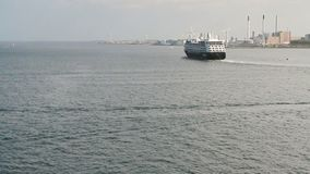 De cruisevoering zet uit aan overzees Kopenhagen, Denemarken stock videobeelden