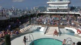 De cruisewinkel vertrekt van Miami stock footage