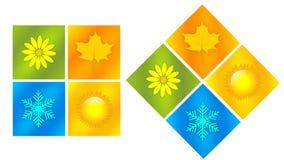 De cuatro estaciones Imagen de archivo libre de regalías
