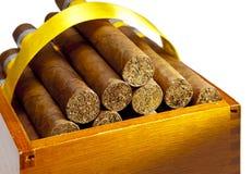 De Cubaanse sigaren, gemaakte hand - Royalty-vrije Stock Afbeeldingen