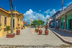 De Cubaanse stad van Baracoa royalty-vrije stock foto's
