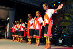 De Culturele prestaties van Bidayuh Stock Afbeeldingen