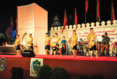De culturele trommeldans toont Royalty-vrije Stock Foto's