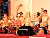 De culturele trommeldans toont Royalty-vrije Stock Fotografie