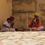De Cultuur Agra Jaipur Delhi Varanasi van India Nepal Stock Fotografie