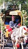 De cultuur nganjuk stad van Carnaval van de prestatiesverjaardag, het Oosten Jav royalty-vrije stock afbeeldingen