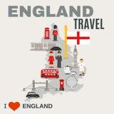 De Cultuur van Engeland voor Reizigersaffiche royalty-vrije illustratie