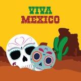 De cultuur van Mexico en oriëntatiepuntontwerp stock illustratie