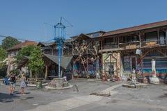 De cultuurcentrum van Metelkovamesto, Ljubljana, Slovenië Stock Foto's