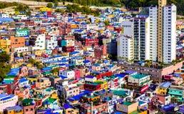 De Cultuurdorp Zuid-Korea van Busangamcheon stock afbeeldingen