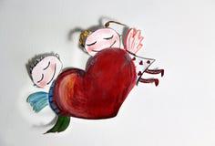 De Cupido van de valentijnskaart Stock Fotografie