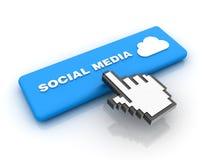 De curseur overhandigt Sociale Media Knoop Stock Afbeelding
