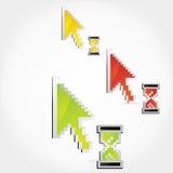 De curseurs van de pijl met hour-glass vector illustratie