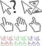 De curseurs van het pixel Stock Afbeelding