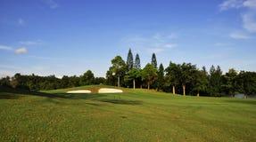 De cursus van het golf stock afbeeldingen