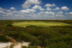 De cursus van het golf royalty-vrije stock fotografie