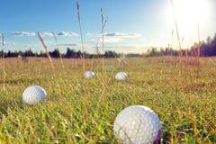 De cursus van het golf in het platteland Royalty-vrije Stock Afbeeldingen