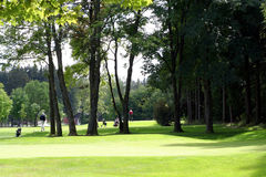 De Cursus van het golf met Spelers stock foto's