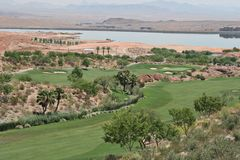 De cursus van het golf in Vegas Stock Fotografie