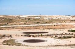 De cursus van het woestijngolf royalty-vrije stock afbeeldingen